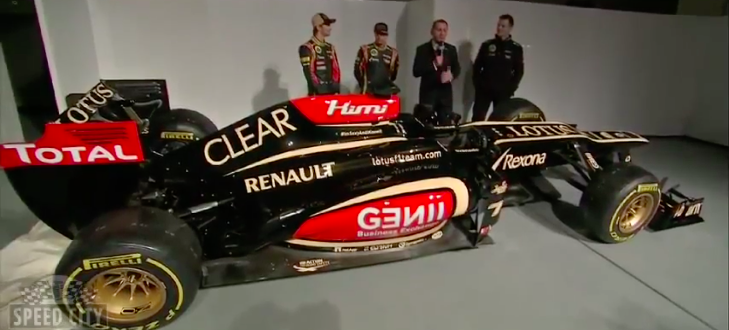 De F1-auto van Team Lotus